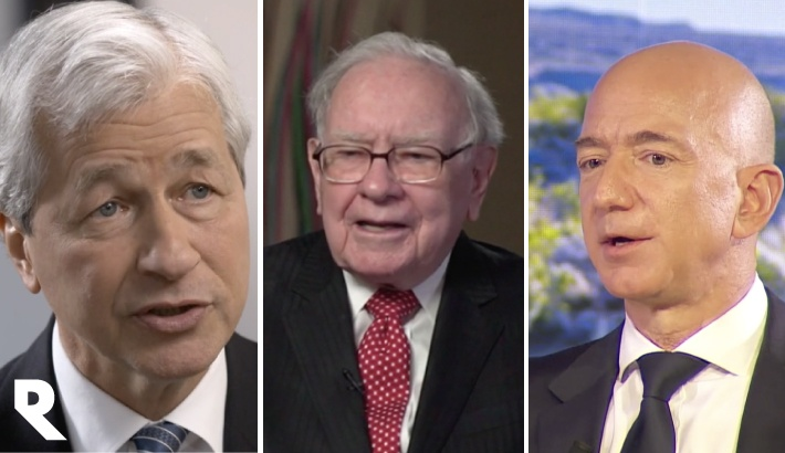 Jamie Dimon, Warren Buffett, Jeff Bezos